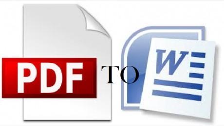 Conversión de pdf a microsoft office word